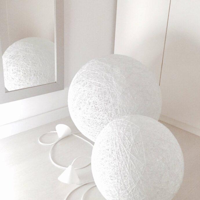 Lámparas de mesa o suelo de hilo artesanales hechas a mano