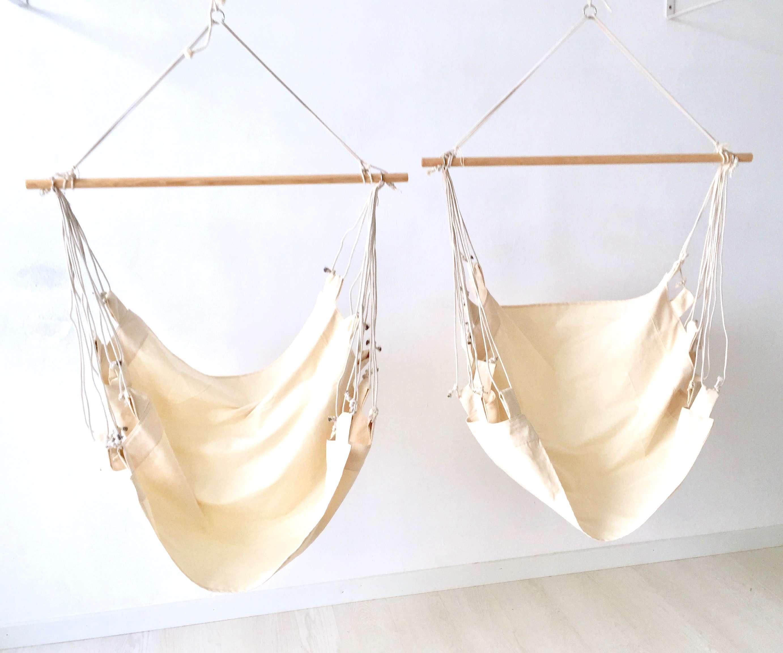Hamaca silla colgante de tela lisa hammock geometrik for Silla hamaca colgante
