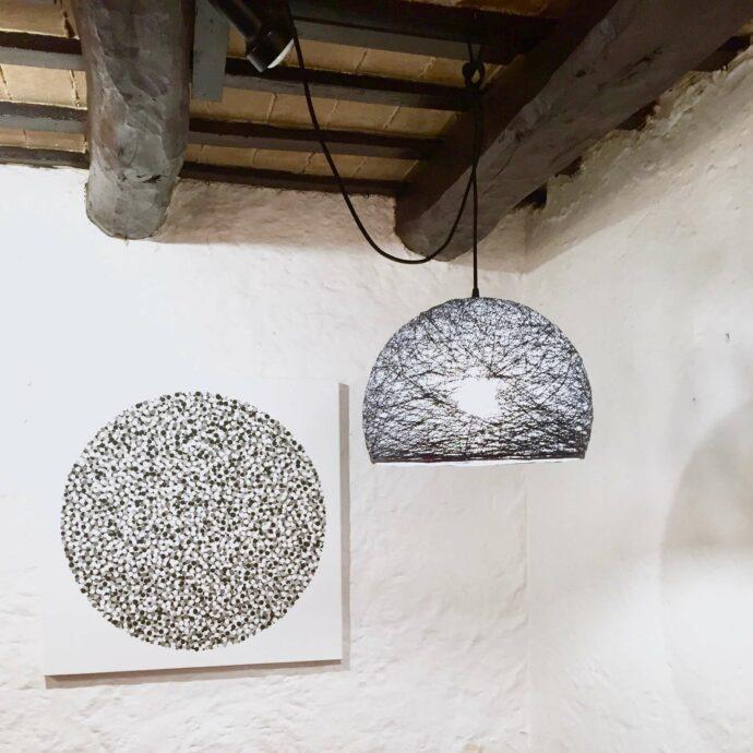 Lámpara de techo colgante media esfera
