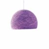 Pendant lamp Nordic design - HALF SPHERE mauve
