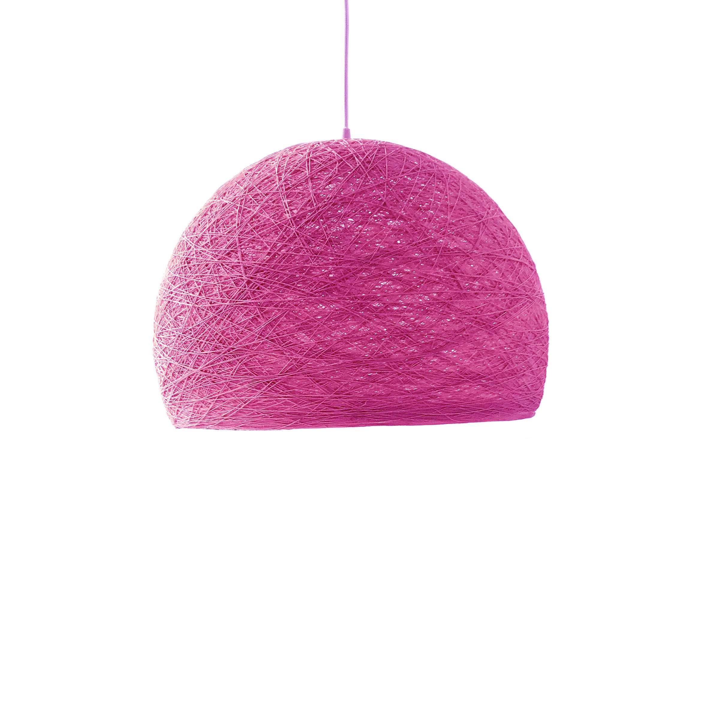 Pendant lamp Nordic design - HALF SPHERE fuchsia