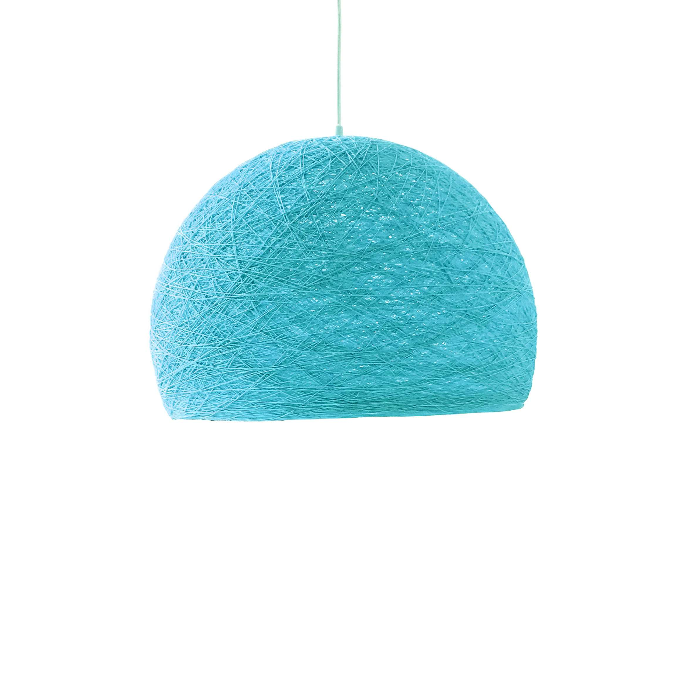 Pendant lamp Nordic design - HALF SPHERE light blue