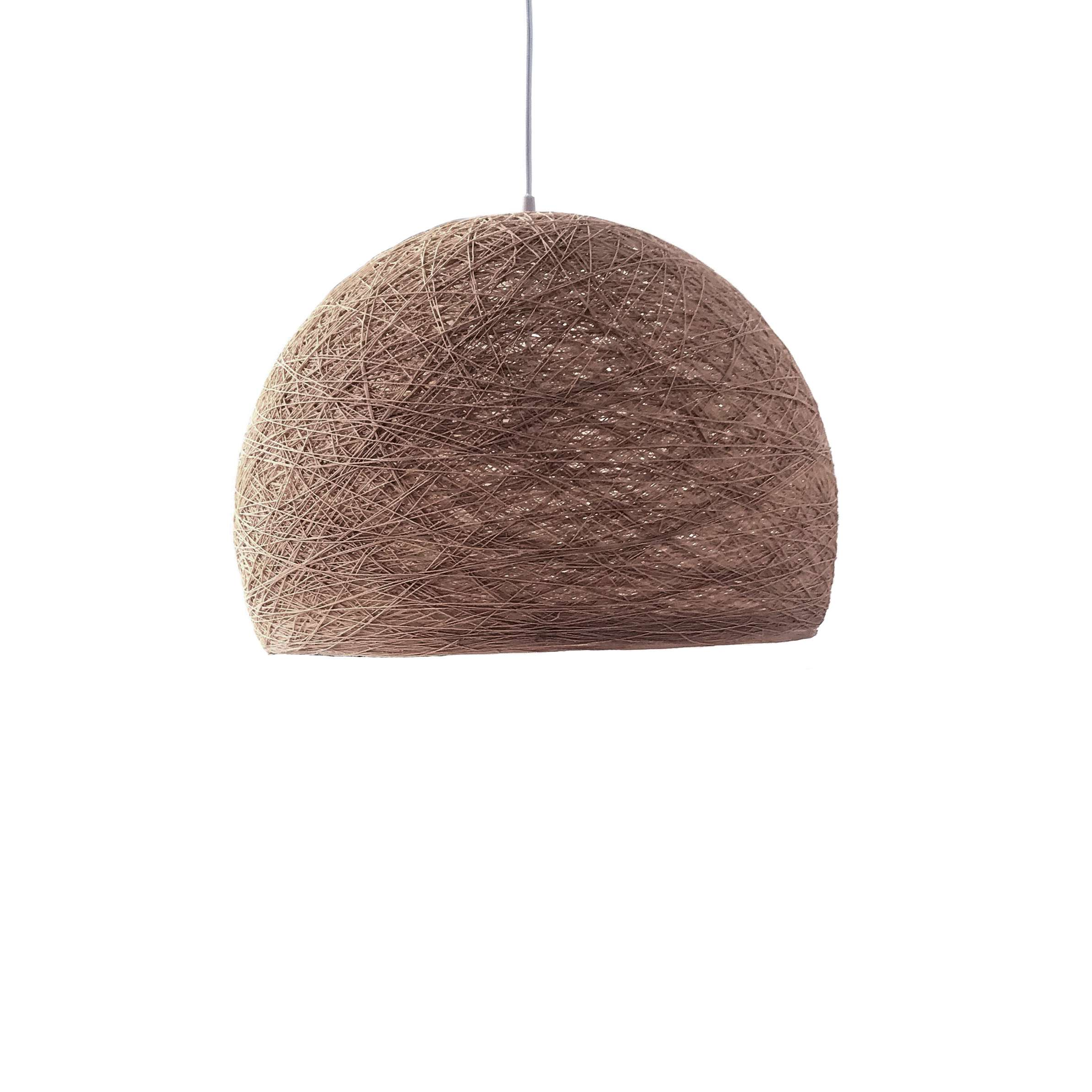 Pendant lamp Nordic design - HALF SPHERE brown