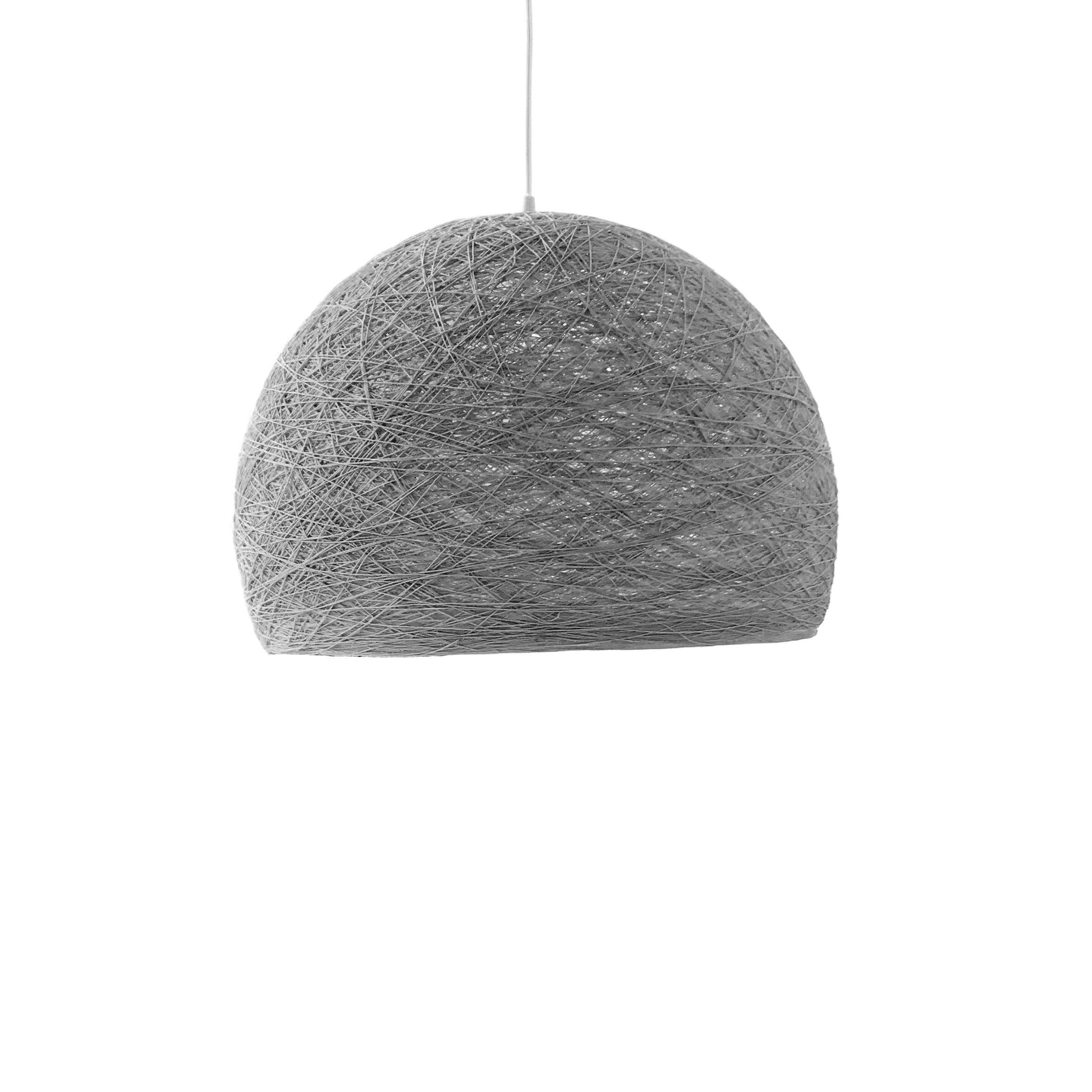 Pendant lamp Nordic design - HALF SPHERE light grey