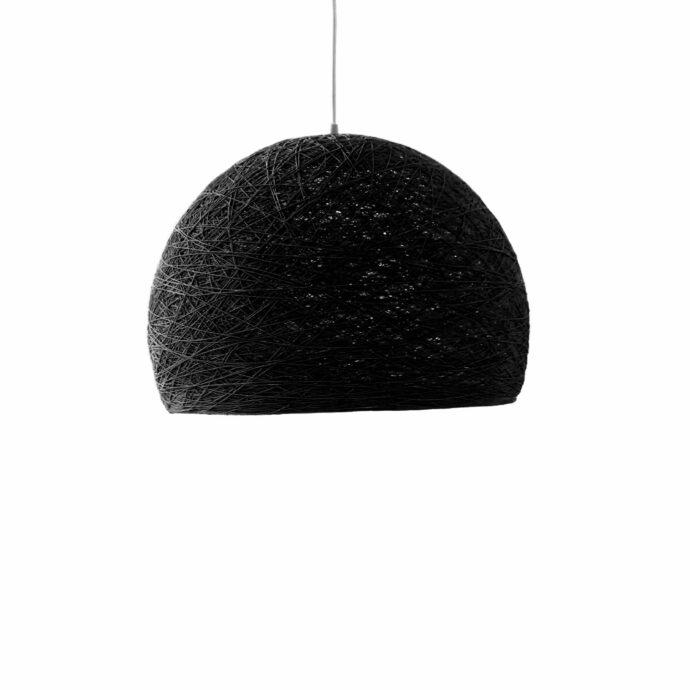 Pendant lamp Nordic design - HALF SPHERE black