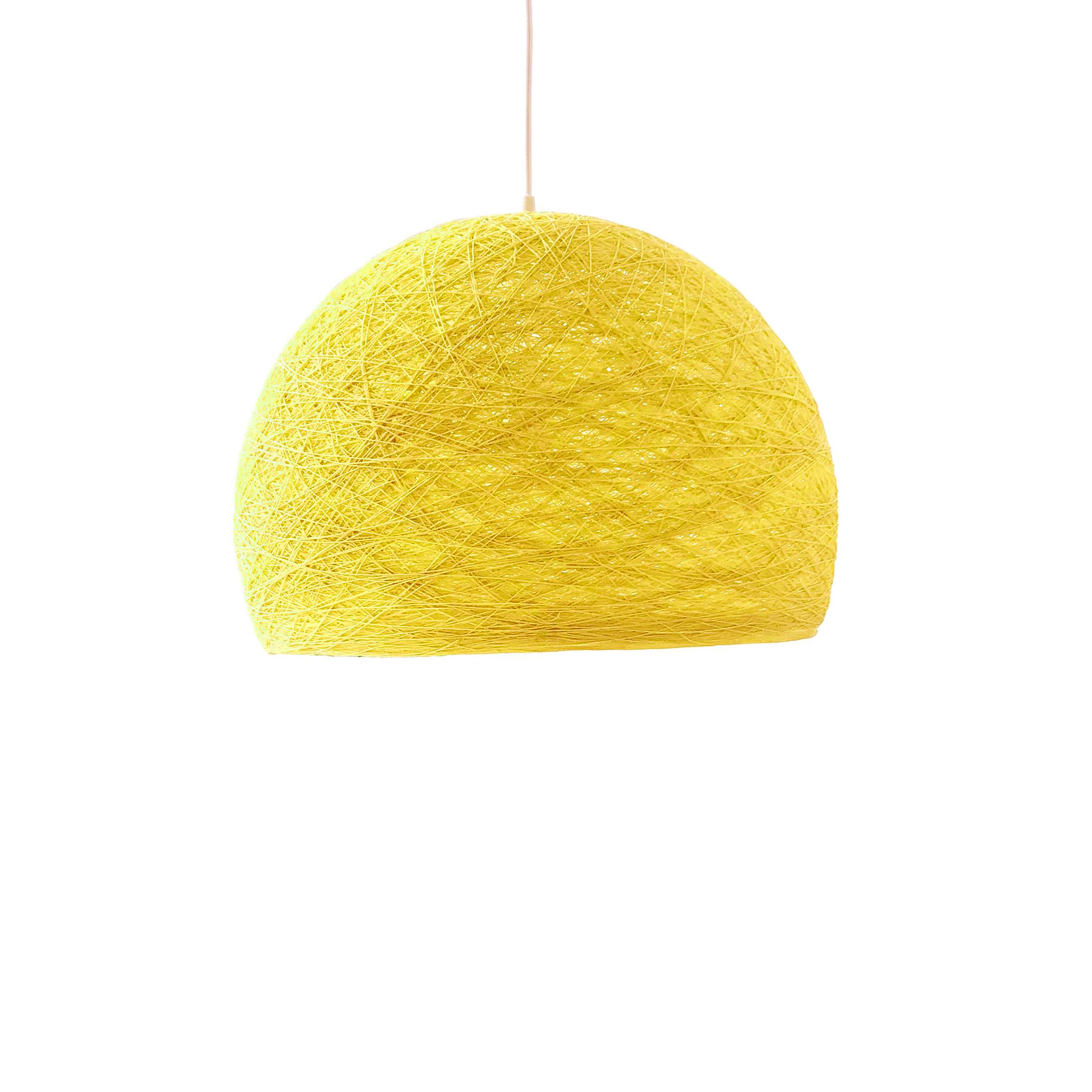 Pendant lamp Nordic design - HALF SPHERE yellow