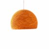 Pendant lamp Nordic design - HALF SPHERE orange