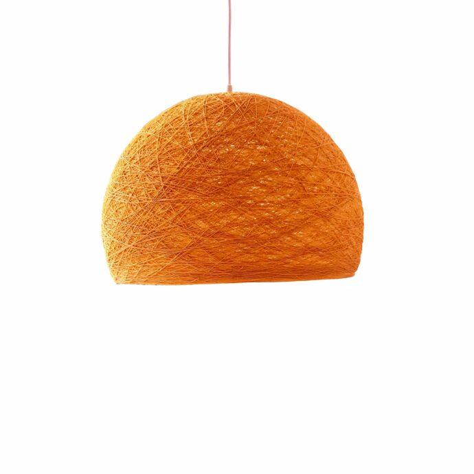 Pendant lamp Nordic design - HALF SPHERE orange