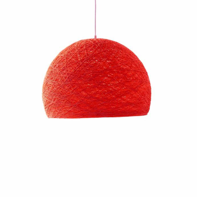 Pendant lamp Nordic design - HALF SPHERE red