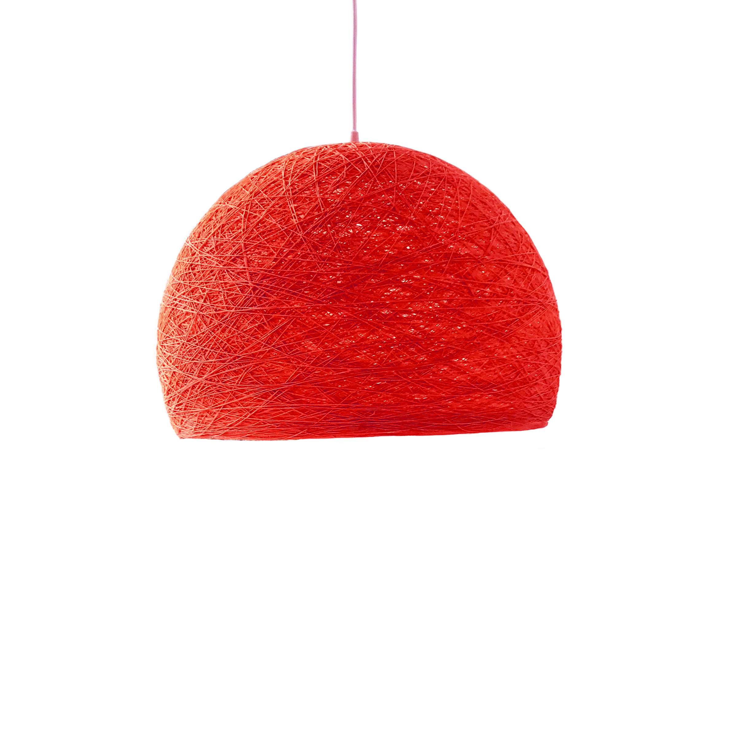 Pendant lamp Nordic design - HALF SPHERE red