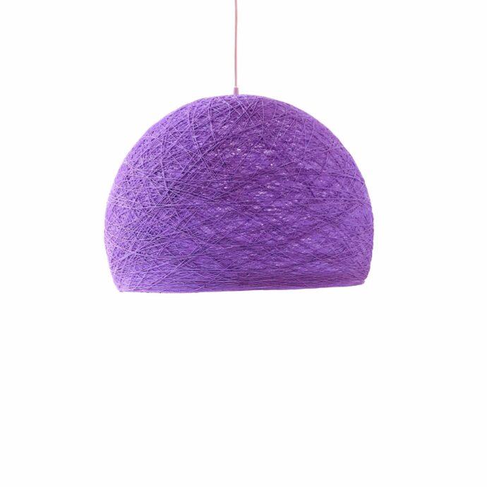 Pendant lamp Nordic design - HALF SPHERE purple