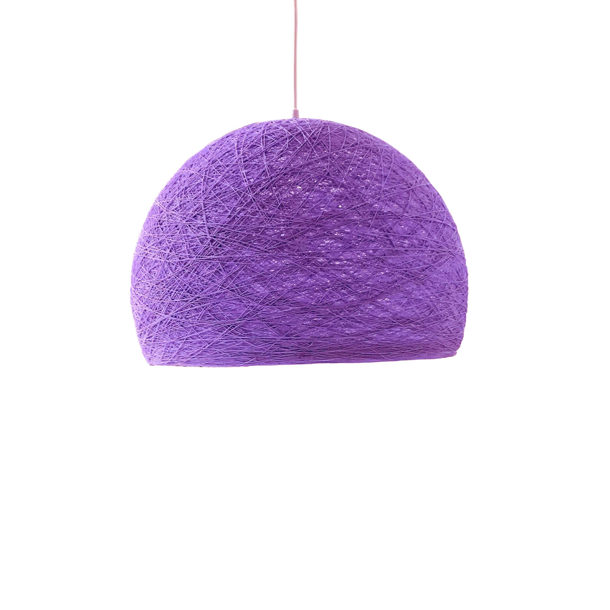 Pendant lamp Nordic design - HALF SPHERE purple