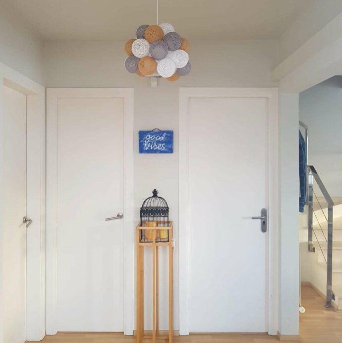 Lámpara colgante de diseño redondo MOLEKULAR