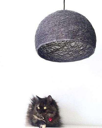lámpara half sphere negra