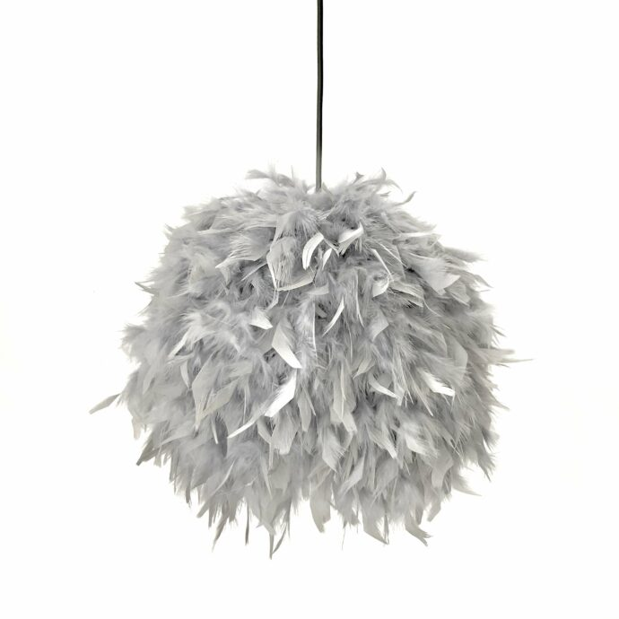 Decorative feathers lamp
