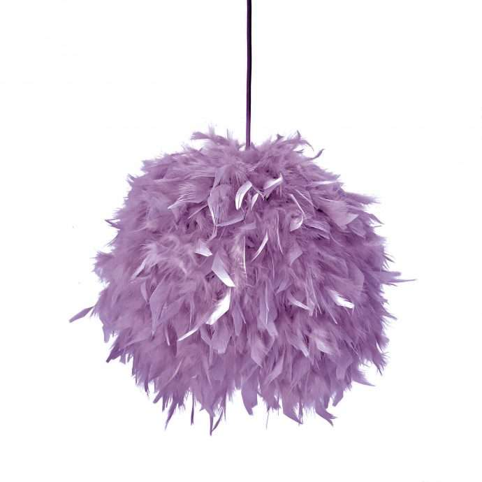 Decorative feathers lamp FEATHERS mauve