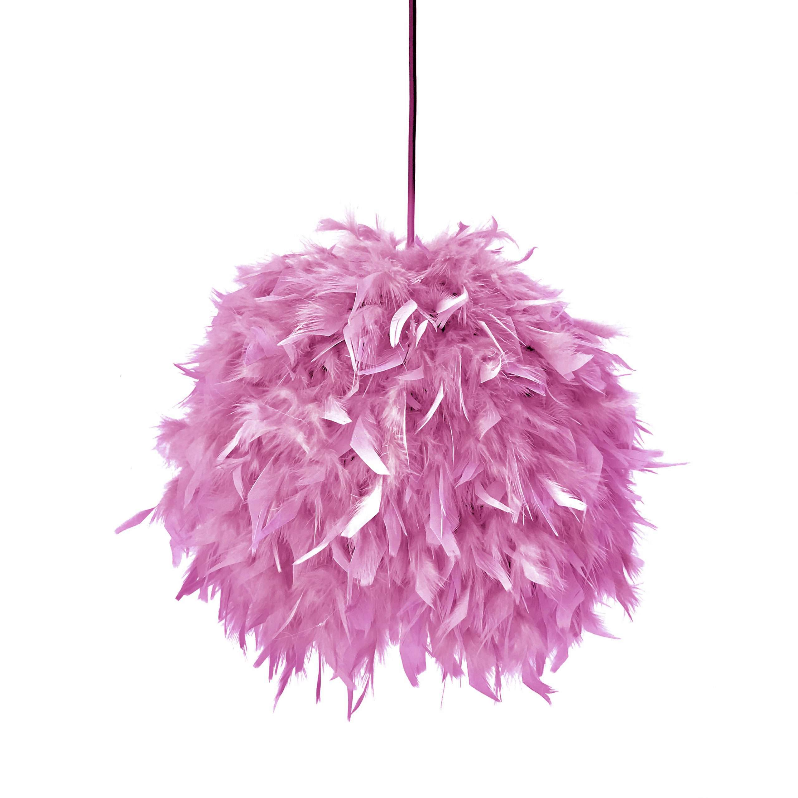 Decorative feathers lamp FEATHERS pink