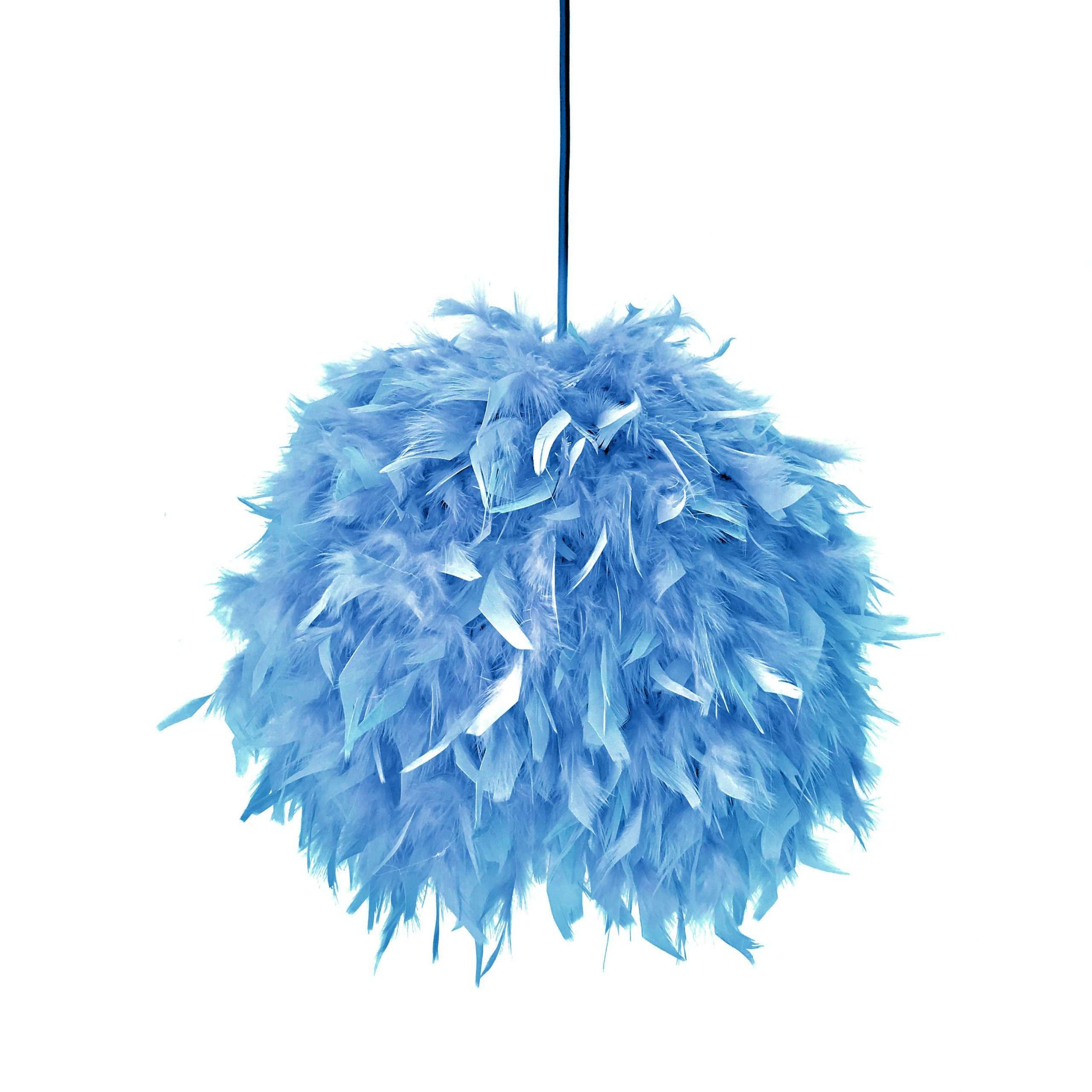 Decorative feathers lamp FEATHERS light blue