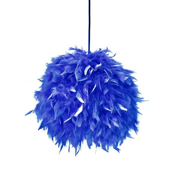 Decorative feathers lamp FEATHERS blue