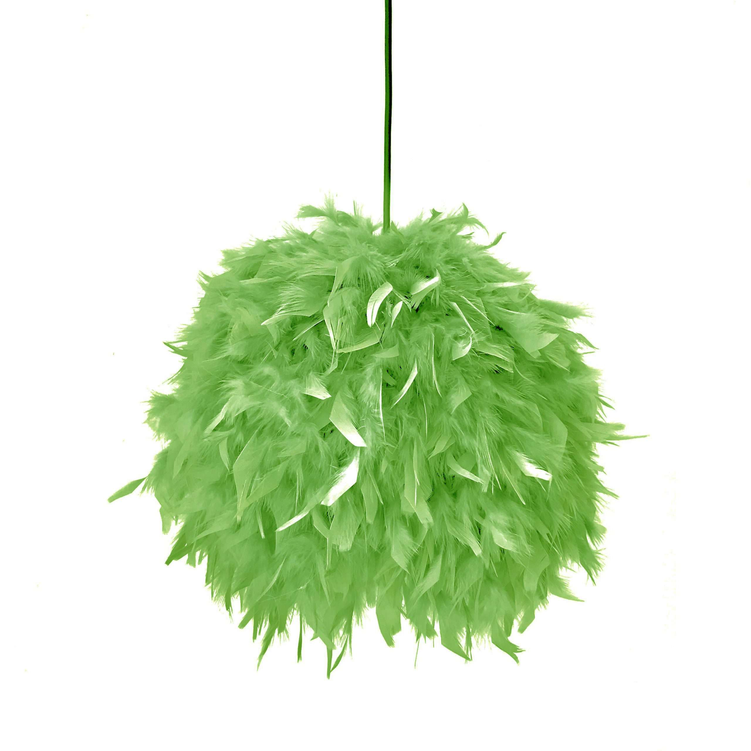 Decorative feathers lamp FEATHERS green