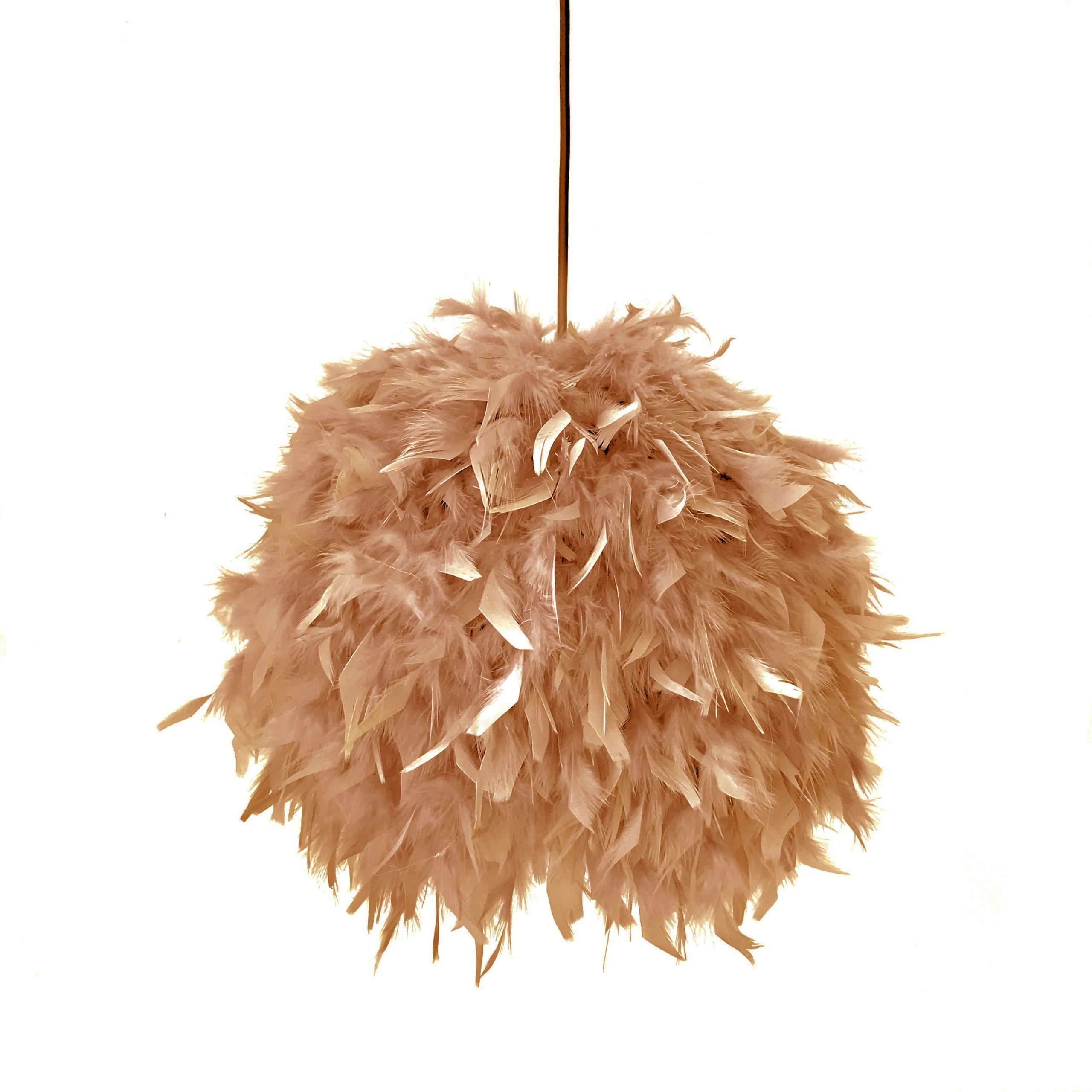 Decorative feathers lamp FEATHERS brown