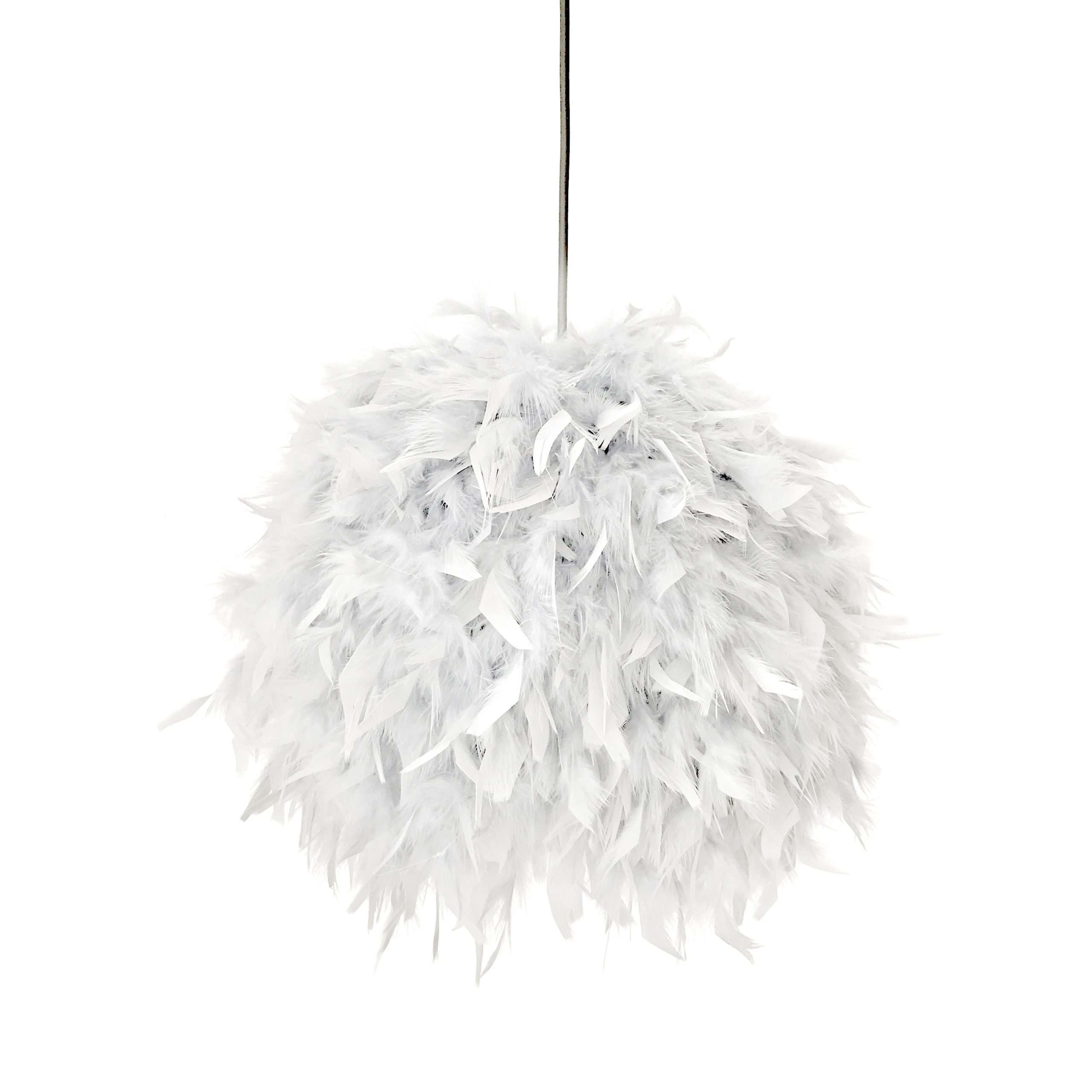 Decorative feathers lamp FEATHERS white