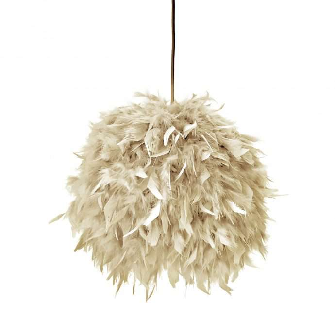 Decorative feathers lamp FEATHERS beige