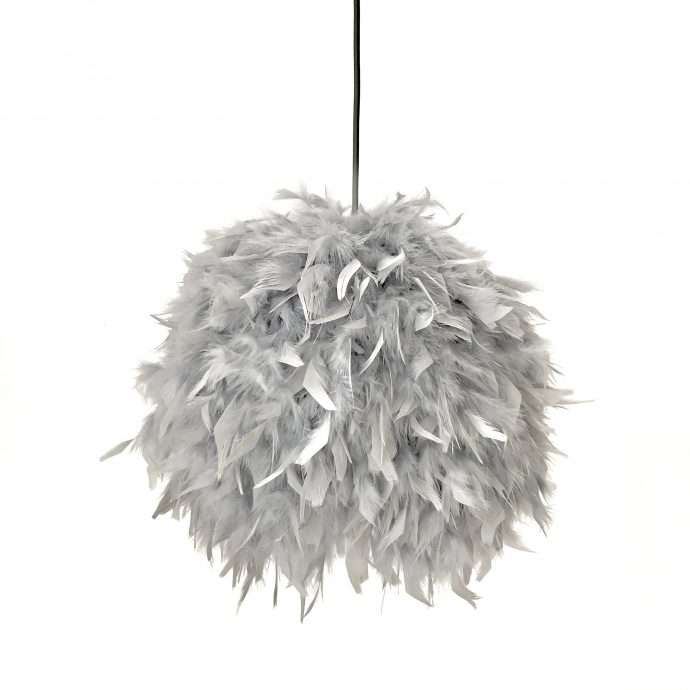 Decorative feathers lamp FEATHERS grey