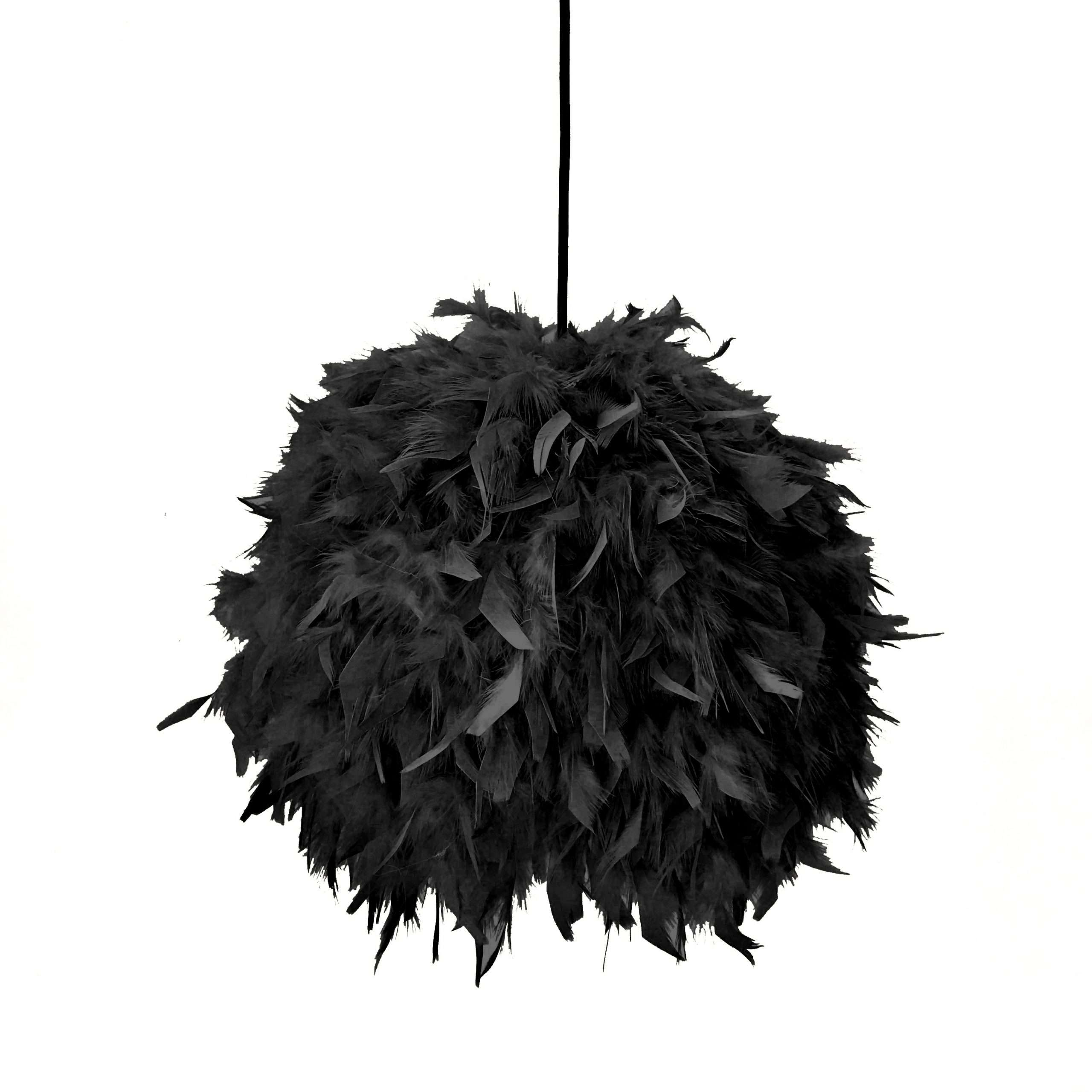 Decorative feathers lamp FEATHERS black