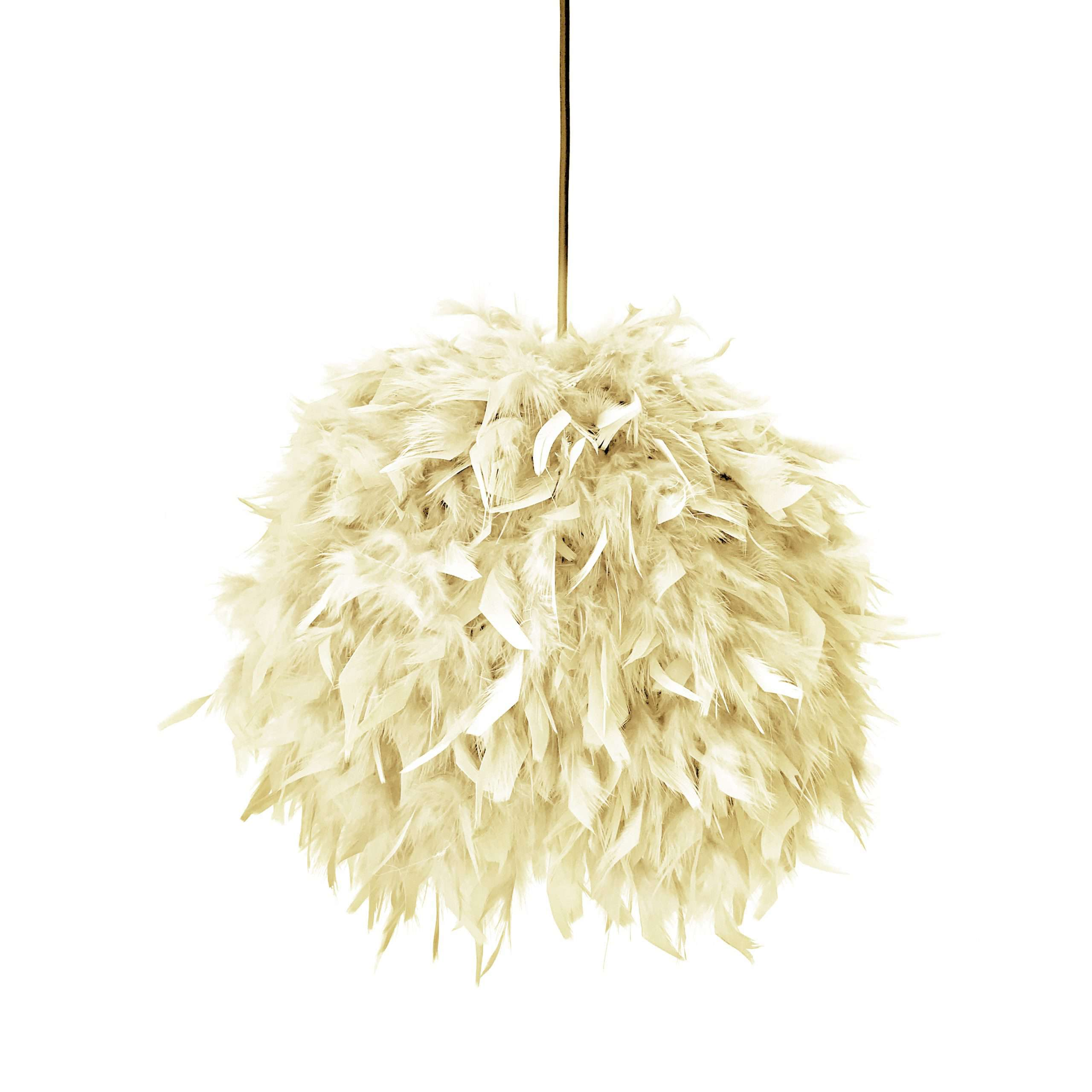 Decorative feathers lamp FEATHERS cream