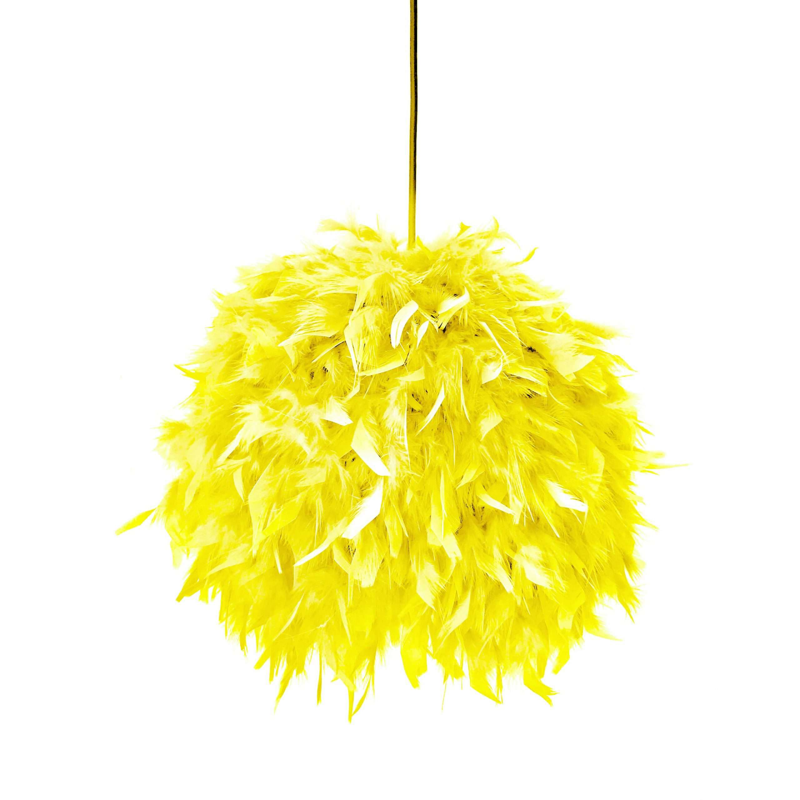 Decorative feathers lamp FEATHERS yellow