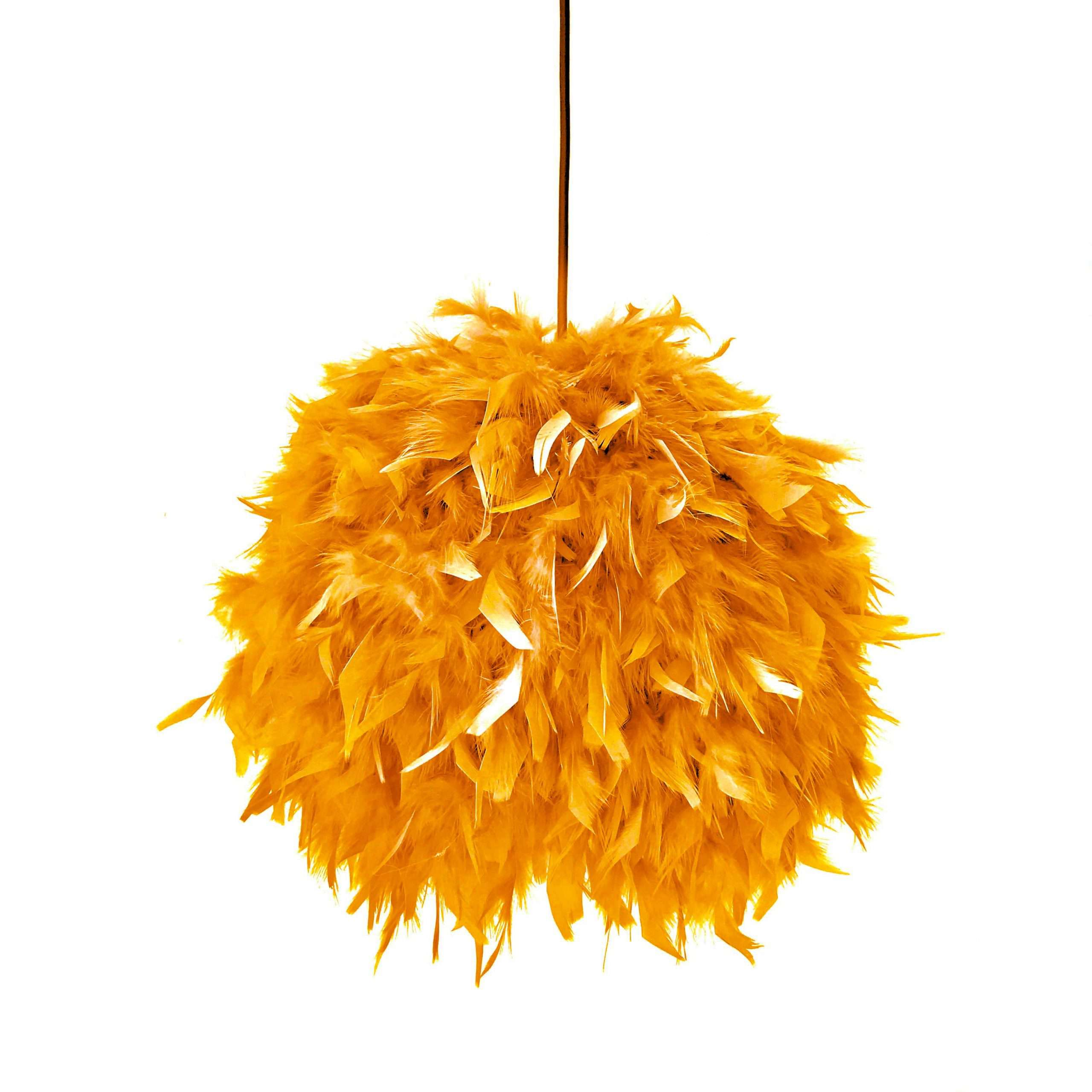 Decorative feathers lamp FEATHERS orange