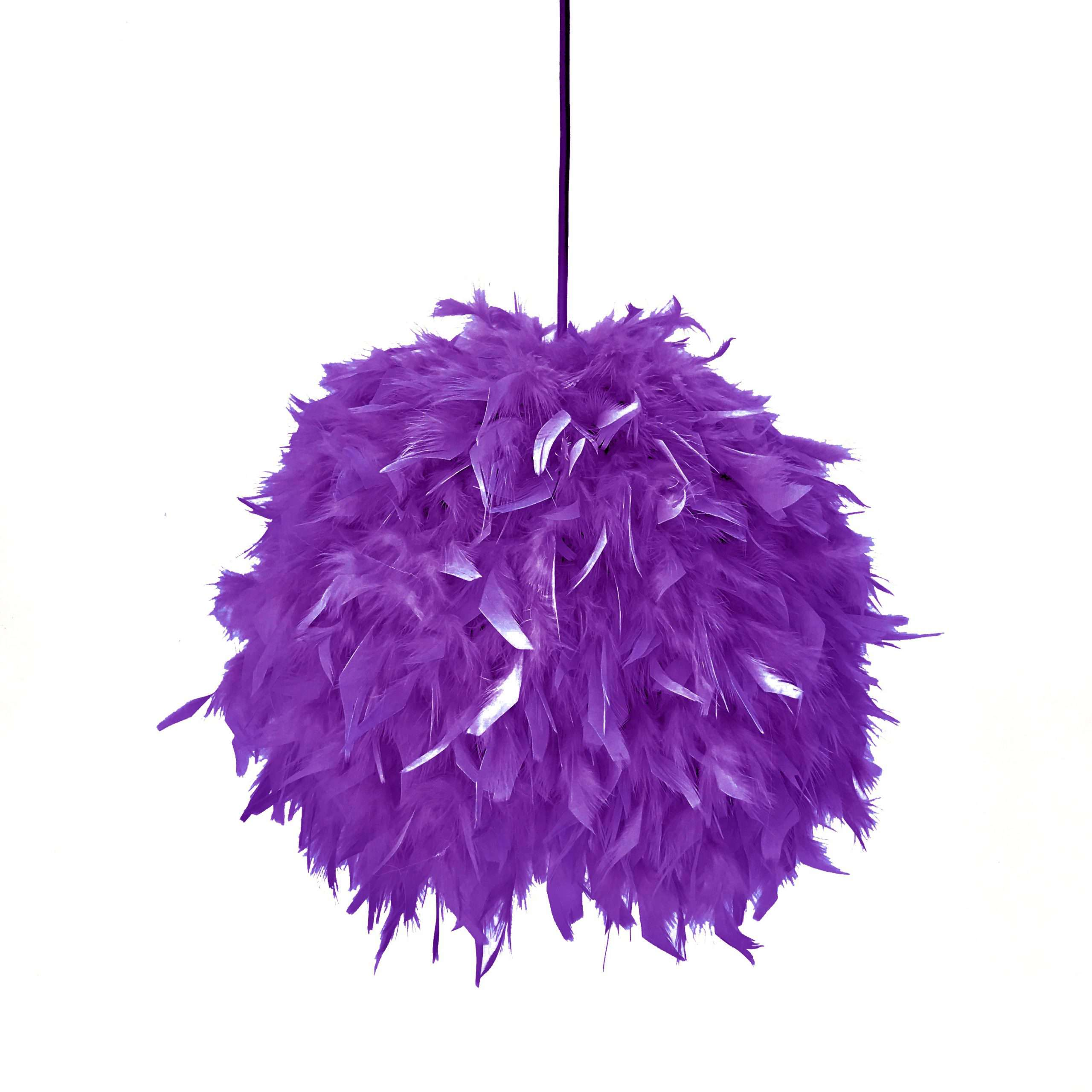 Decorative feathers lamp FEATHERS purple