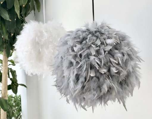 lamparas de plumas