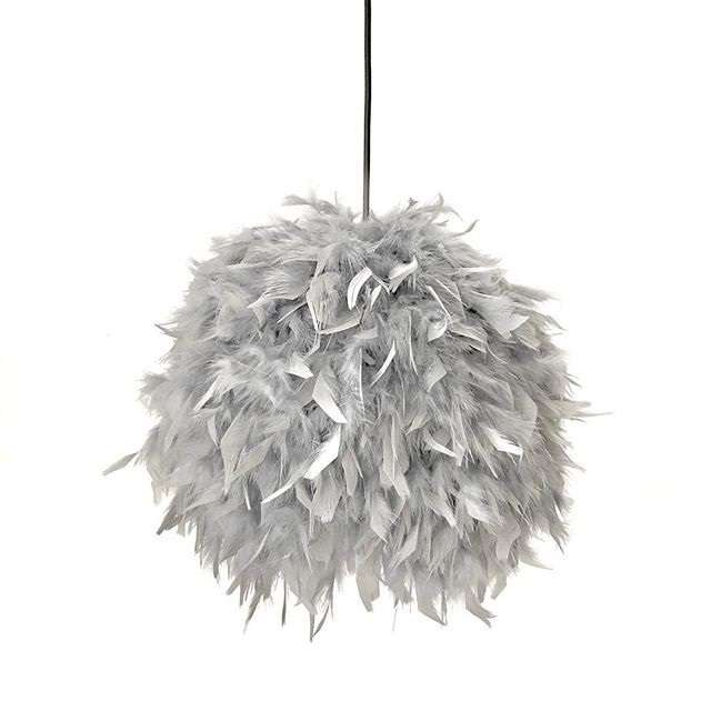 feathers lamp