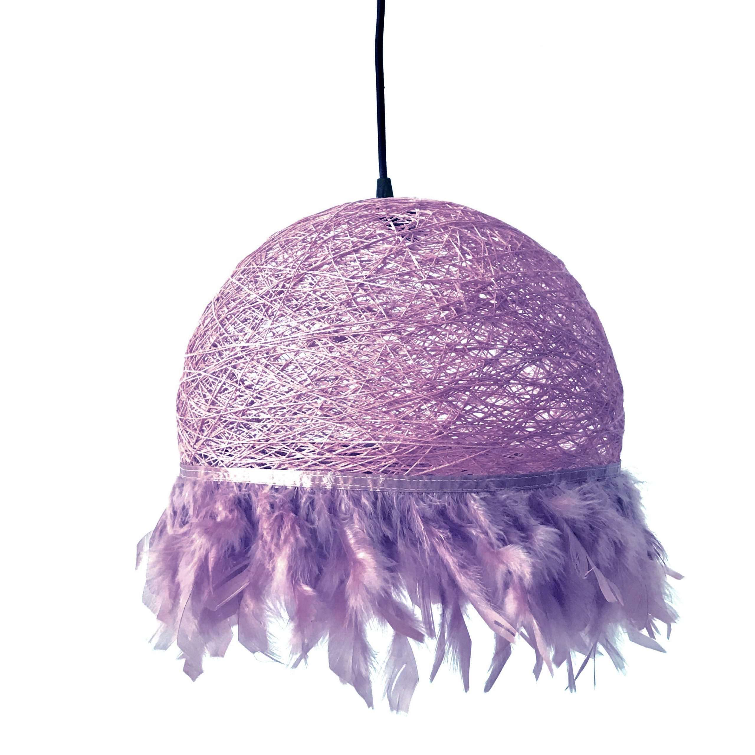 Nordic feathers lamp HALF FEATHERS mauve
