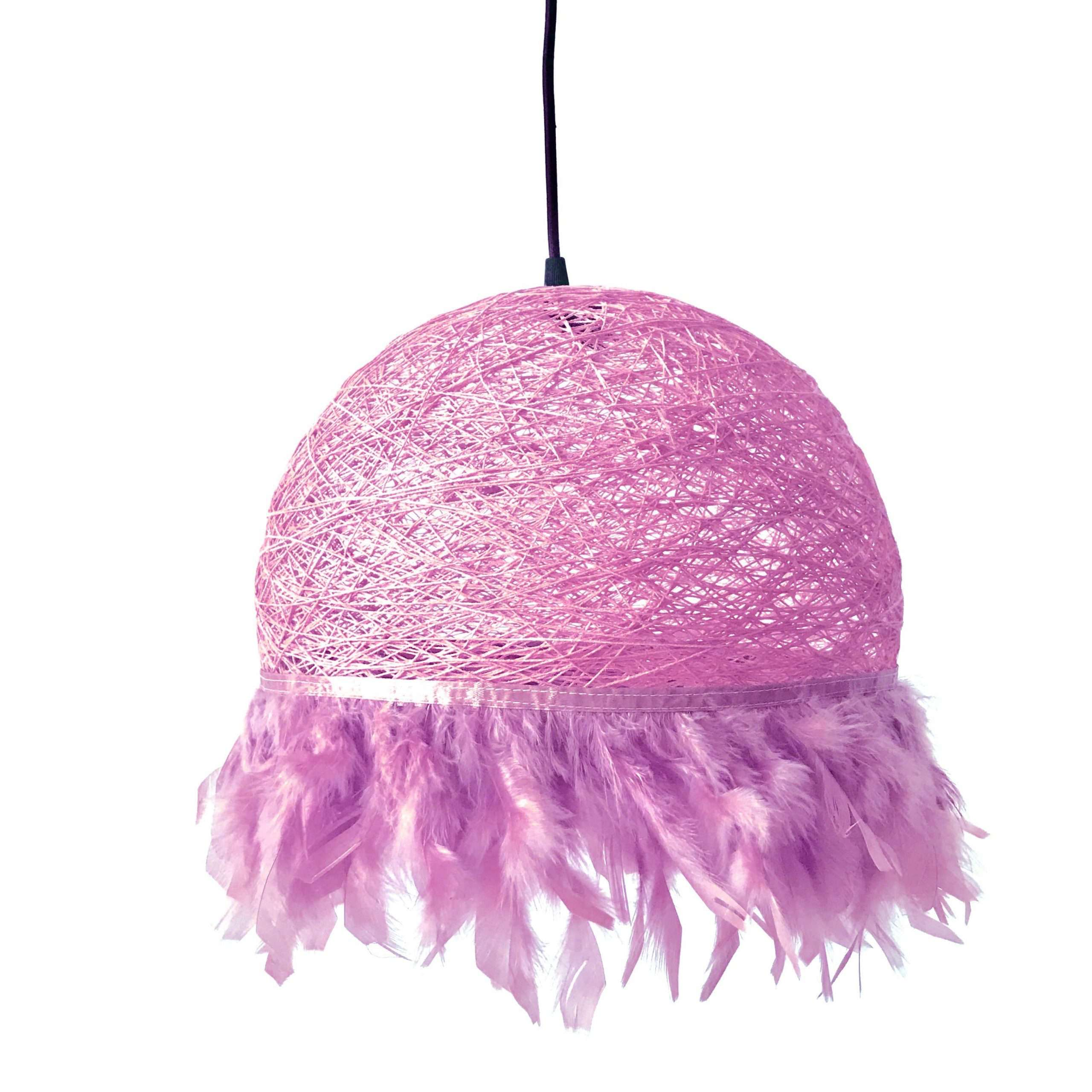Nordic feathers lamp HALF FEATHERS pink
