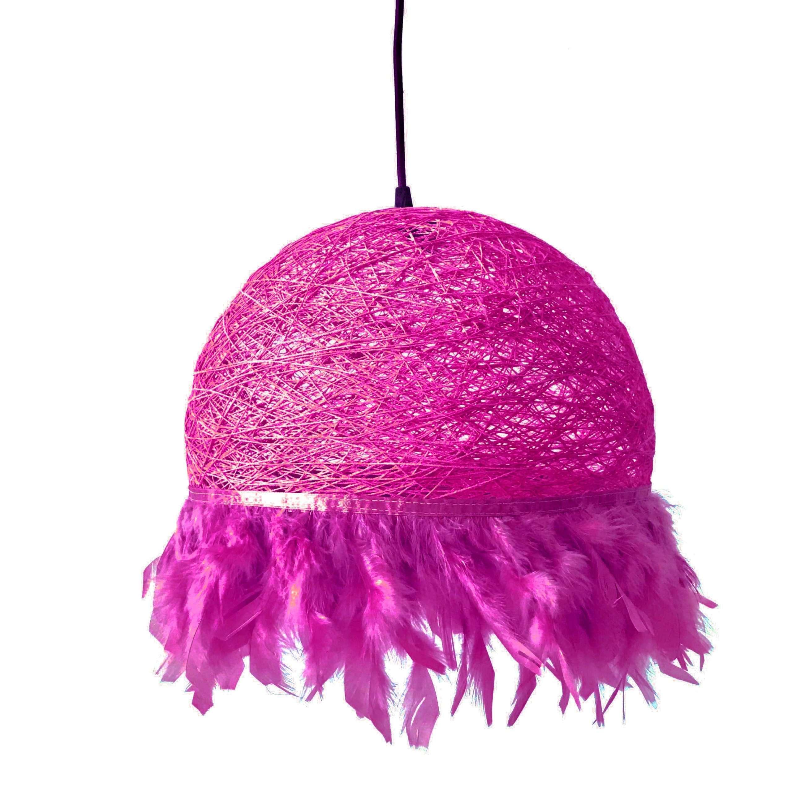 Nordic feathers lamp HALF FEATHERS fuchsia