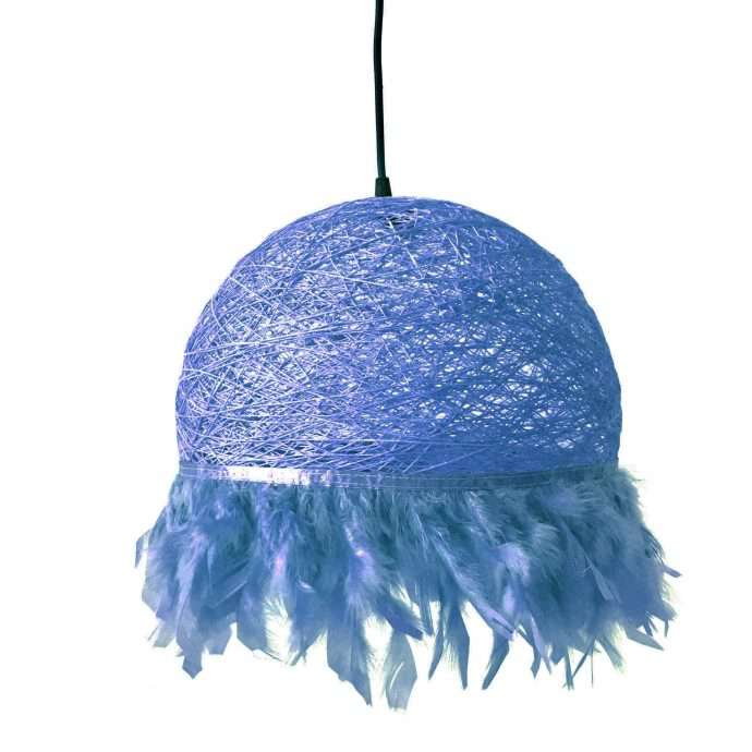 Nordic feathers lamp HALF FEATHERS blue