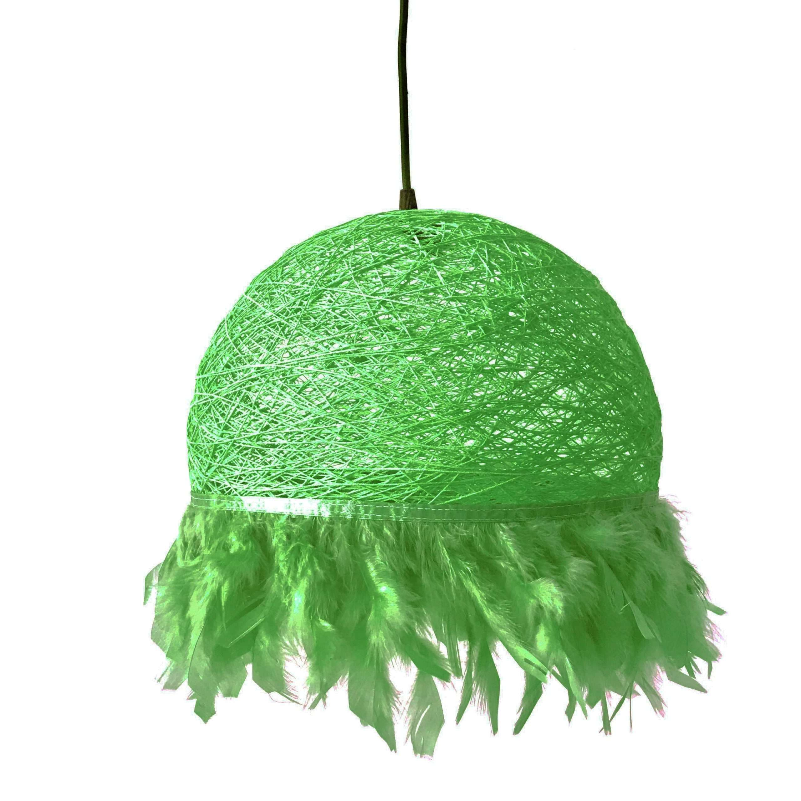 Nordic feathers lamp HALF FEATHERS green