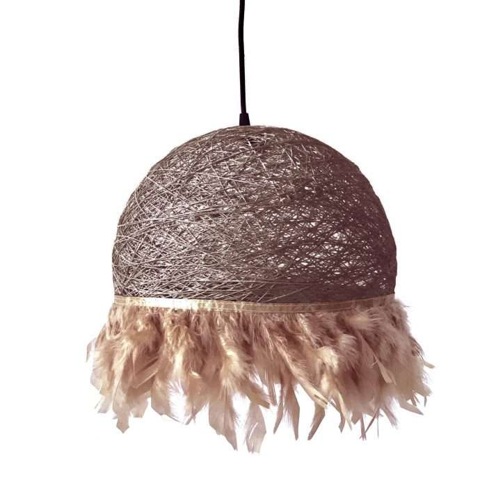 Nordic feathers lamp HALF FEATHERS brown