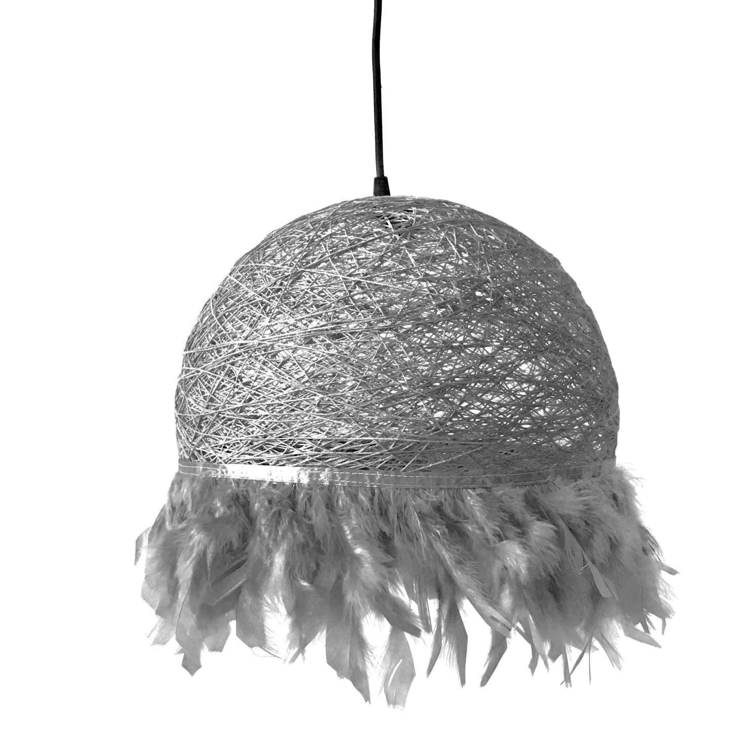 Nordic feathers lamp HALF FEATHERS grey