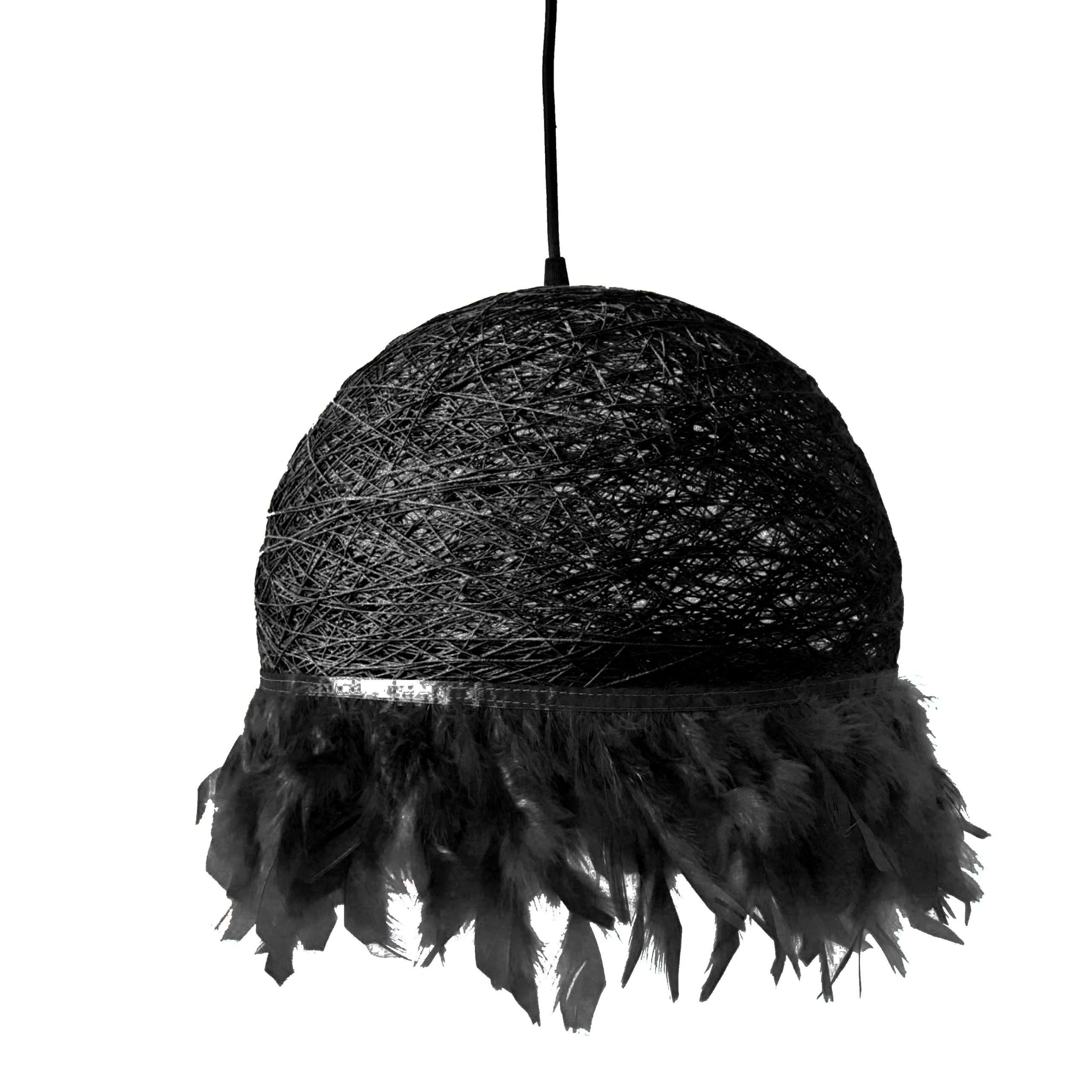 Nordic feathers lamp HALF FEATHERS black