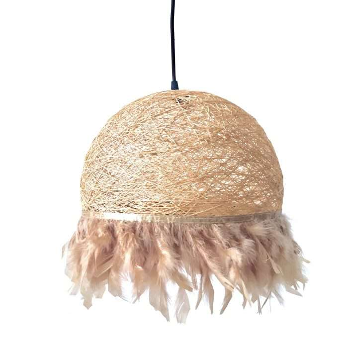 Nordic feathers lamp HALF FEATHERS beige