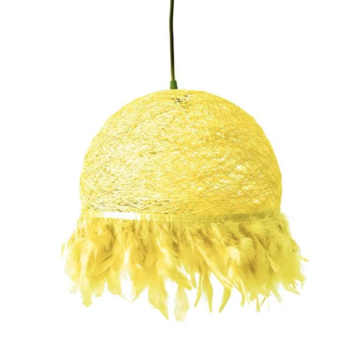 Nordic feathers lamp HALF FEATHERS yellow