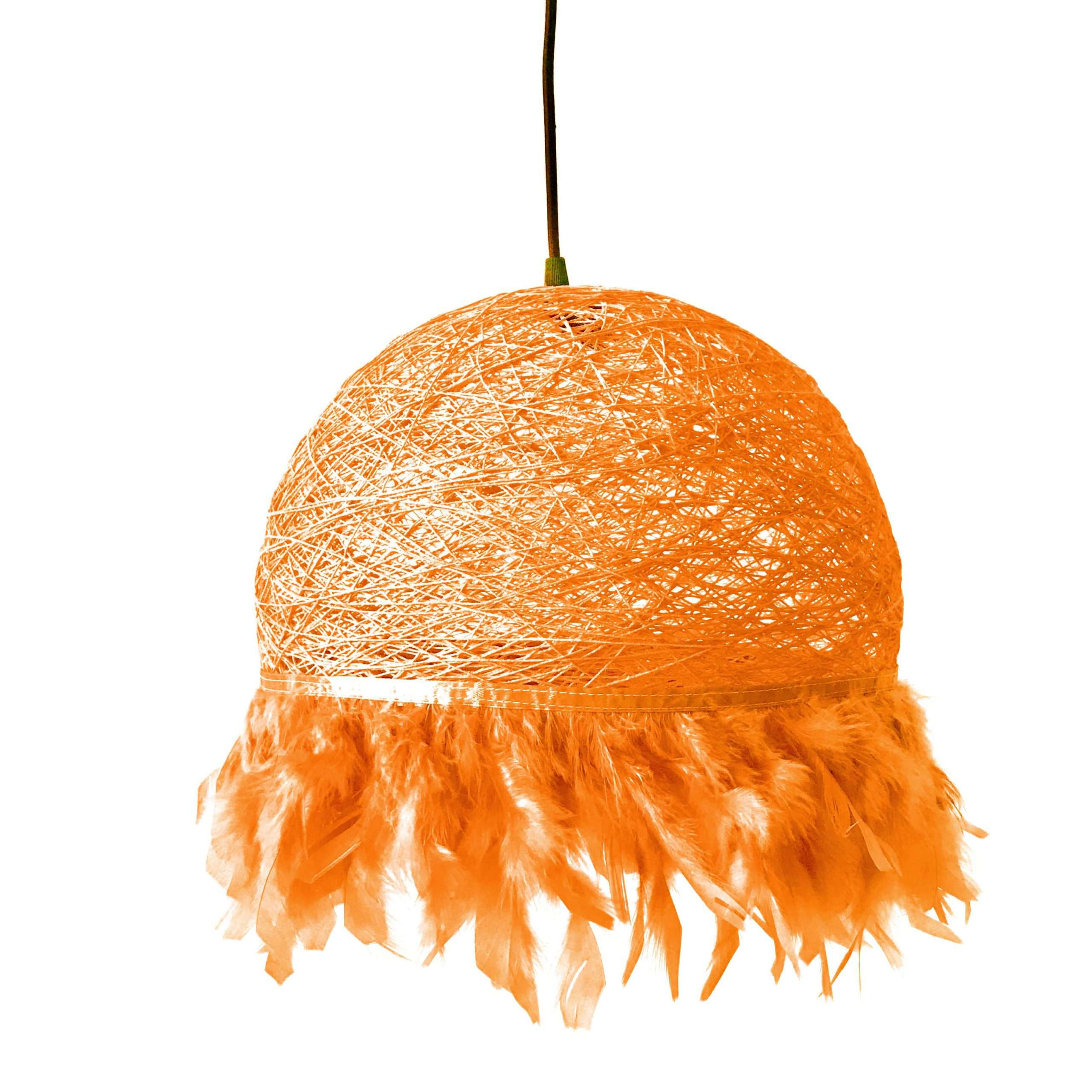 Nordic feathers lamp HALF FEATHERS orange