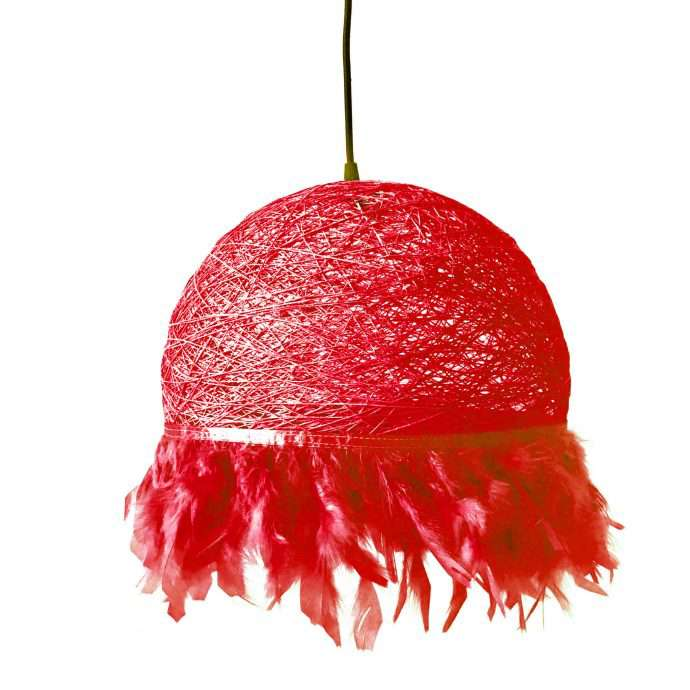Nordic feathers lamp HALF FEATHERS red