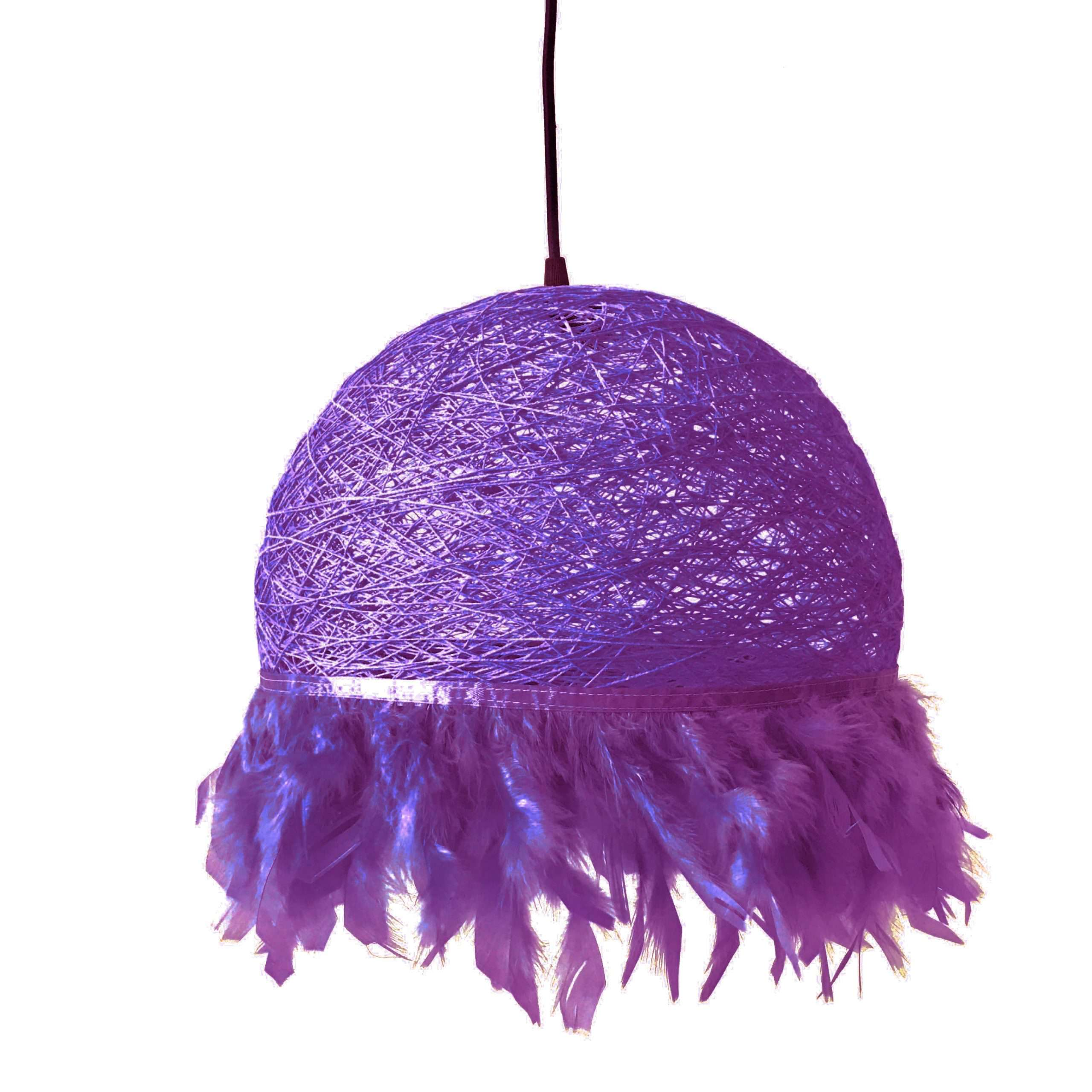 Nordic feathers lamp HALF FEATHERS purple