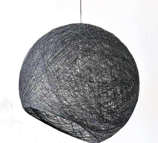 lámpara negro