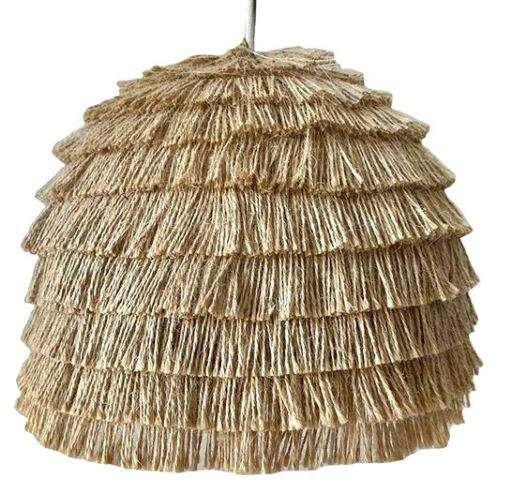 lámpara de flecos